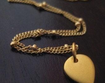 """Gold Lotus Necklace / """"Lotus Petal"""""""