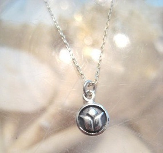 """Lotus Necklace - """"A Little Life"""" in silver"""