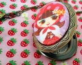 Little Red Riding Hood Locket rotkaeppchen Kawaii Kitsch Lolita EGL Unique Street Fashion Fairy Tale Everyday Chic victorian elegance Simpl