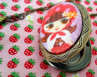 Little Red Riding Hood Locket rotkaeppchen Kawaii Kitsch Lolita EGL Unique Street Fashion Fairy Tale Everyday Chic victorian elegance Simpl