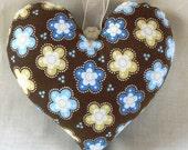 PIF Shabby Chic Flower Fabric Heart