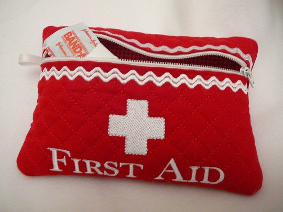 Quilted Zipper First Aid Bag
