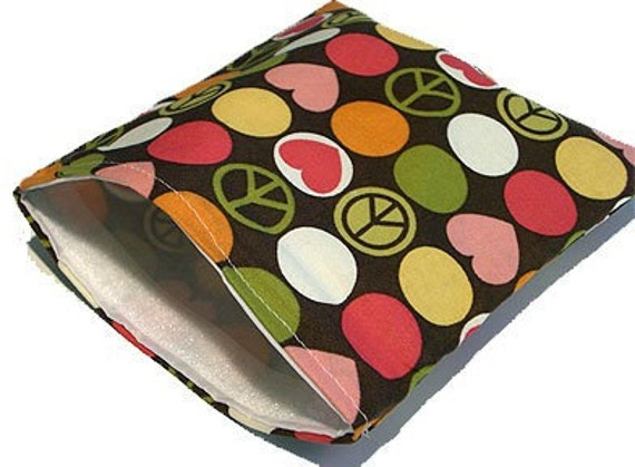Reusable Snack and Sandwich Bags Peace Love Polkadots
