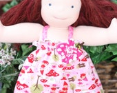 "Garden Gnome Knit  Waldorf Doll Dress Set  15"" Waldorf Doll Clothes"