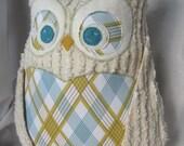 Chenille posh Owl designer fabrics