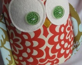 Cherry the Owl....Amy Butler fabric...Lotus collection
