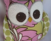Small Plush Owl made with Amy Butler fabric