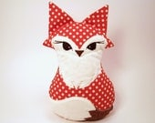 Foxy Plush Fox Riley Blakeorange polka dot  fabric