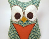 Owl Bookend  Paperweight doorstop  Riley Blake Fly A Kite Collection
