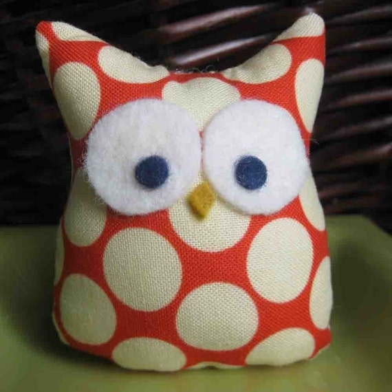 mini owl....Amy Butler fabric....party favor....stocking stuffer