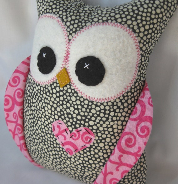 Girly Girl Plush Owl