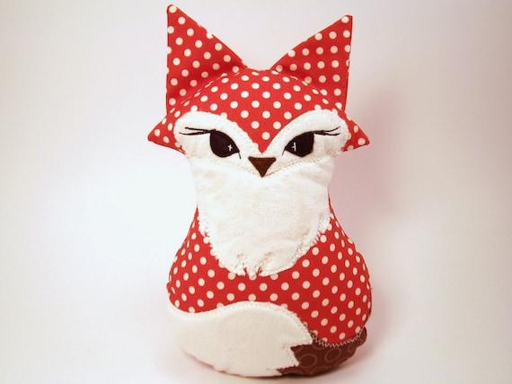Foxy Plush Fox Riley Blakeorange polka dot  fabric