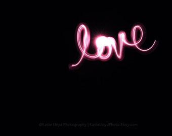 Love Breaks Through the Darkness - 16x20 Fine Art Photography Print - pink and black home decor photo for nursery or teenage bedroom art