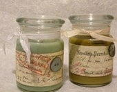"""All Natural Scents in Soy - Vintage Container Candles -  """" Naturelle Essence"""""""