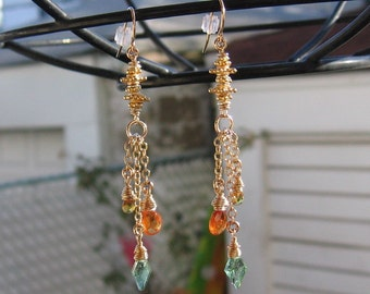 Pagoda A Gemstone Trinity-Earrings ON SALE NOW