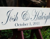 Custom Save the Date Wedding Sign Distressed Wood