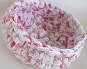 Fabric Basket Crimson White