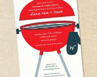 Sweet Wishes' Barbeque BBQ Party Invitations & Favor Labels - Digital File Available