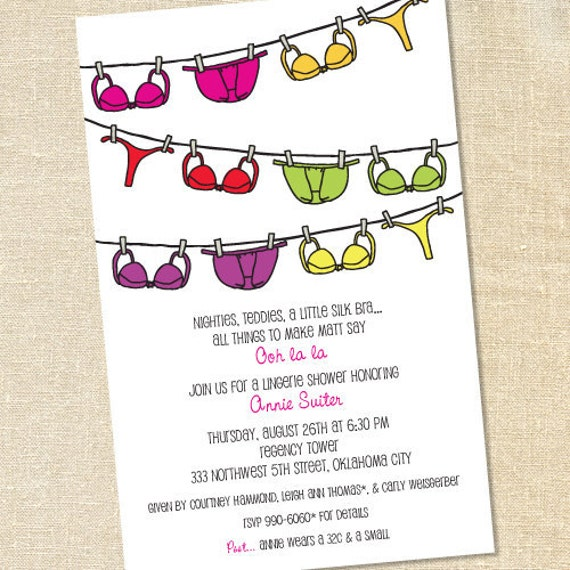 Lingerie Shower Invitation Wording was beautiful invitation example