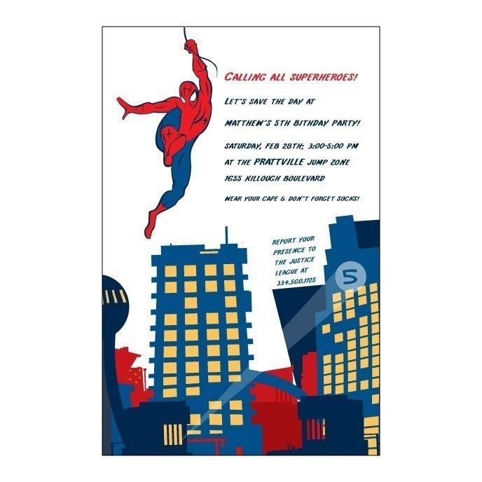 Spider Man Birthday Invitations was amazing invitation design