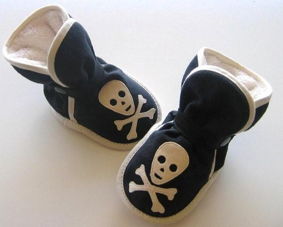 Awesome Black Pirate Booties - Etsy Happy Holidays, slippers - free shipping with code FREESHIPPING