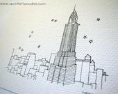 Sketch Series - Chrysler Building, New York City - Art Print (5 x 7)