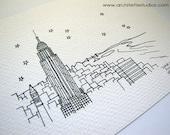 Sketch Series - Empire State Building, New York City - Art Print (5 x 7)