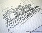 Sketch Series - Grand Central, New York City - Art Print (5 x 7)