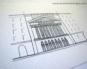 Sketch Series - New York Stock Exchange, New York City - Art Print (5 x 7)