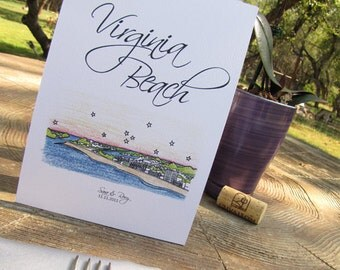 Wedding Folded Table Tent Cards - (10) City Skyline Series - (5 x 7)