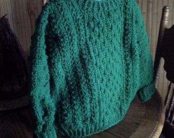 Olivia Grace Nolan Collection Irish Fisherman Celtic Green Sweater Childrens Sizes