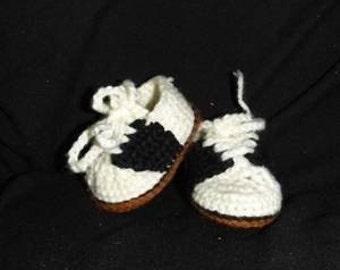 Crochet Saddle Shoe Oxford Bootie