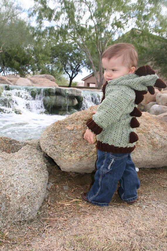 Ice Age Land of Time Forgotten Jurrassic Dinosaur Magical Dragon  Zipper Front Hoodie Infant to Toddler