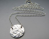 Small Disk Pendant Necklace