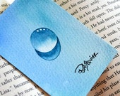Water Drop - Icy Cool Drop an Original Watercolor Painting ACEO