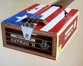 Cigar Box Guitar No. 32 Americana Acoustic & Electric Combination