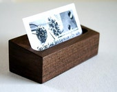 Business Card Holder - Black Walnut Wood - Ready to Ship via Priority Mail