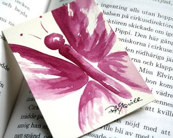Garnet Butterfly an Original Watercolor Painting ACEO