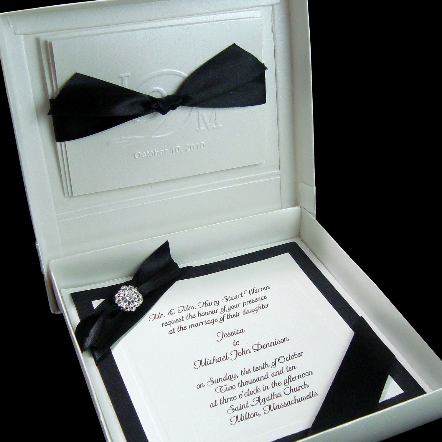 Boxed Couture Wedding Invitations Wedding Invite