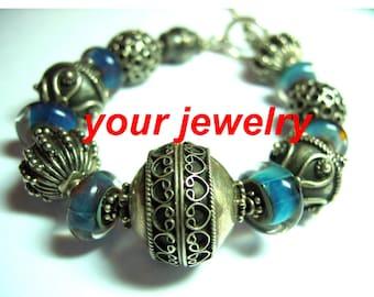 Art Glass Bali Bracelet