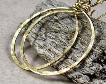 Gold Hoop Earrings 14K Gold Filled Fashion, Large Hoop Earrings, Gifts for Her
