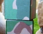 Custom Order for ASHLEY - Camo blocks for Charlie