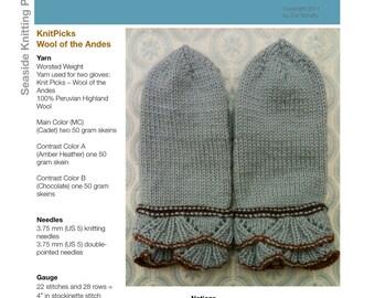 Tulip Mittens - PDF Knitting Pattern