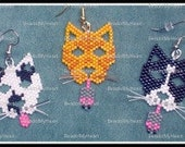 Cat Earring Bead pattern - PDF tutorial - Team Mowzzzr