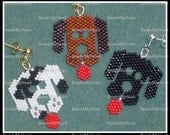 Earring Bead pattern - PDF tutorial - 3 Dog Night