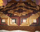 Log Cabin Quilt in Multiple country colors