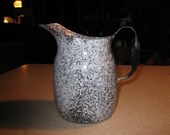 Antique Milk Pitcher enamel Ware