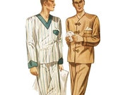 1930s Men's Pajama Pattern Chest 46 Simplicity 2289