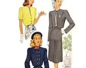 1940s Bolero Jacket Patterns - Bust 30 McCall 6916