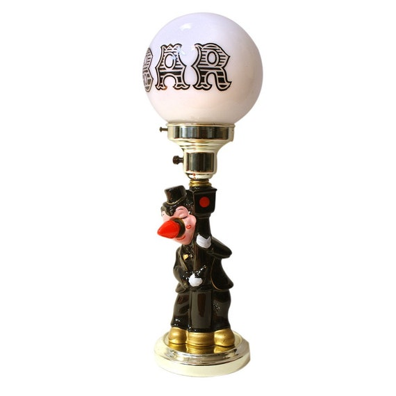 Vintage 1950s BAR Lamp Lighting Drunk And Light Post